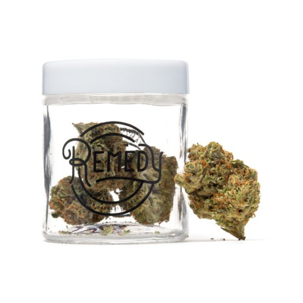 bio diesel flower in remedy glass jar