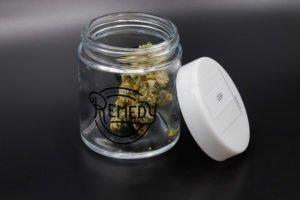 original glue in remedy glass container