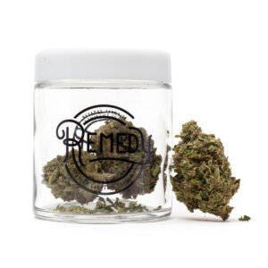 og 18 flower in glass jar