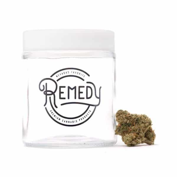 FIre OG flower in glass jar