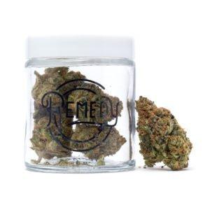 gelato strain in remedy glass jar