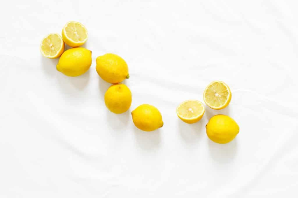 lemons on a table