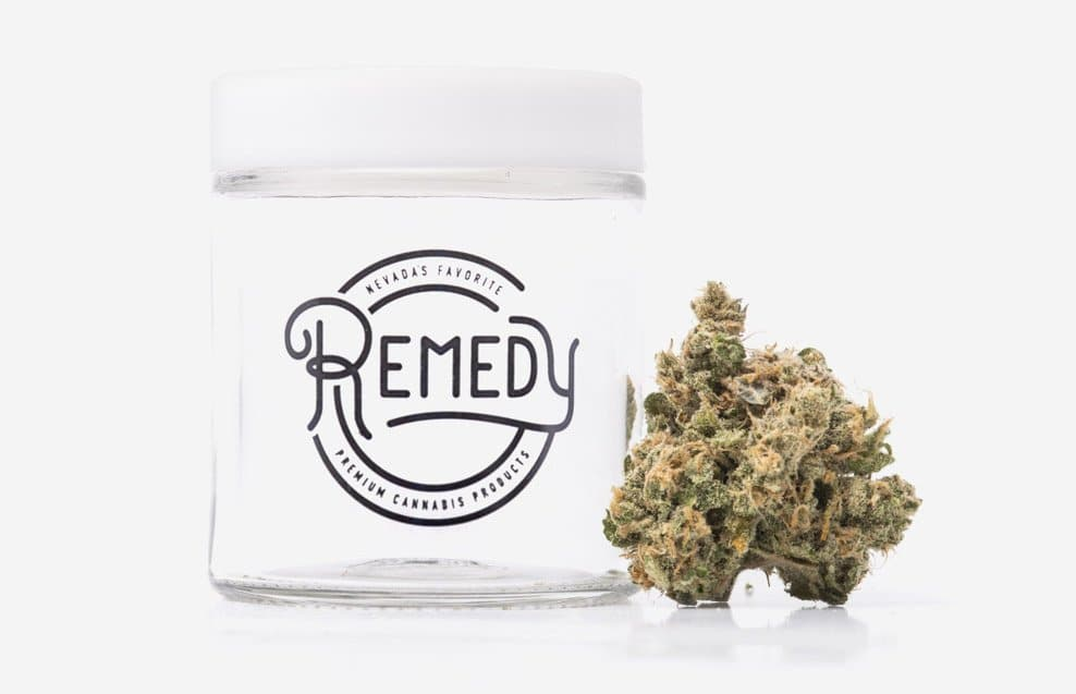 summer strain blue dream next to Remedy jar