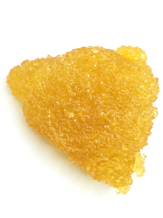 live resin sugar agains white background