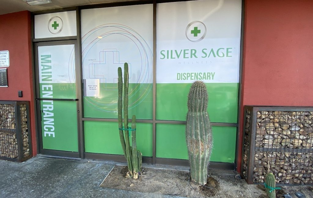 silver sage wellness dispensary front entrance